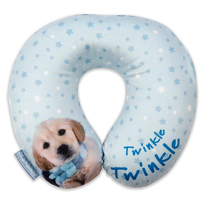 Alternate image 1 for Rachel Hale® Jupitor U-Neck Travel Pillow in Blue