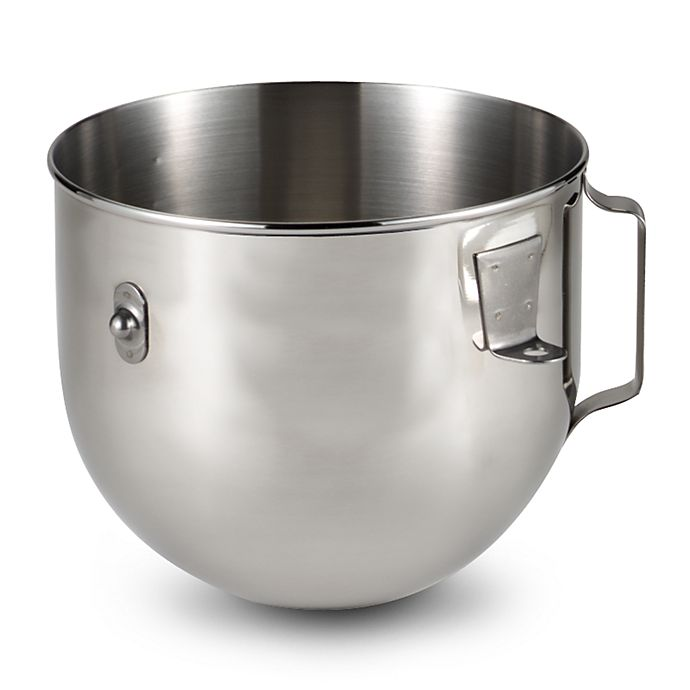Alternate image 1 for KitchenAid® Polished Stainless Steel 5 qt. Bowl with Handle