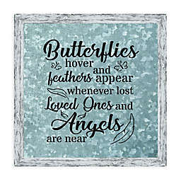 Butterflies Hover 19.7-Inch Square Framed Wall Art