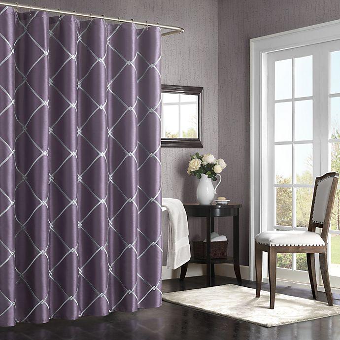 BombayTM Garrison 72 Inch X 72 Inch Shower Curtain In Purple