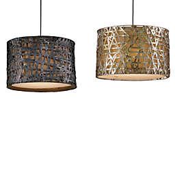 Uttermost Alita 3-Light Metal Drum Pendant Lamp