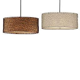 Uttermost Brandon 3-Light Ceiling Mount Drum Pendant Light