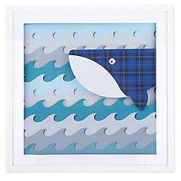 Marmalade™ Whale and Waves 21.5-Inch Square Framed Shadow Box Art in Teal/Blue