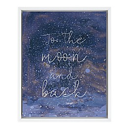 Marmalade™ Night Magic II 16-Inch x 20-Inch Framed Canvas Wall Art in Gloss White