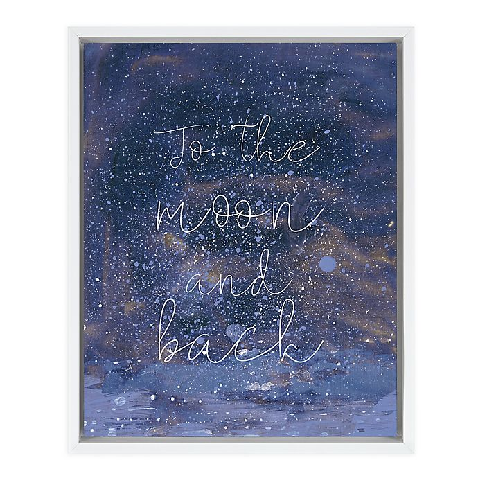 Alternate image 1 for Marmalade™ Night Magic II 16-Inch x 20-Inch Framed Canvas Wall Art in Gloss White