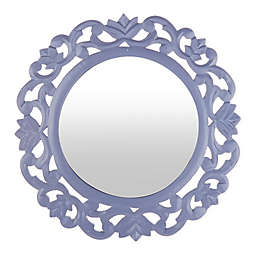 Marmalade™ 15-Inch Round Carved Mirror in Lavender