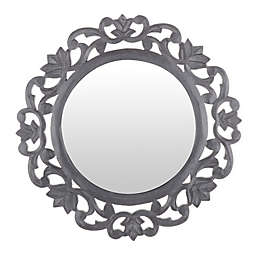Marmalade™ 15-Inch Round Carved Mirror in Grey