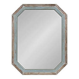 Kate and Laurel Palmer 28-Inch x 36-Inch Octagon Wall Mirror in Blue