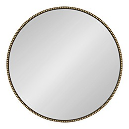 Kate and Laurel Gwendolyn 23.6-Inch Round Wall Mirror in Gold