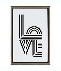 """Cuadro decorativo con la frase """"Love"""""""