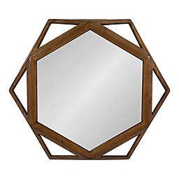 Kate and Laurel Cortland 23.5-Inch x 27-Inch Hexagon Wall Mirror