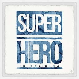 Marmont Hill Blue Superhero in Training Sign Framed Wall Art
