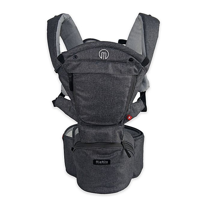 Alternate image 1 for MiaMily Hipster™ Smart 3D Baby Carrier in Grey