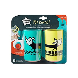Tommee Tippee® No Knock 2-Pack 10 oz. Plastic Toddler Dog/Fox Drinking Cups