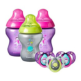 Tommee Tippee® Closer to Nature® 9 oz. Stage 1 Baby Girl Bottles and Pacifiers Set