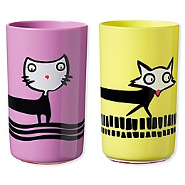 Tommee Tippee® No Knock 2-Pack 10 oz. Plastic Toddler Cat/Fox Drinking Cups