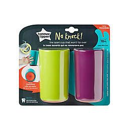 Tommee Tippee® No Knock 2-Pack 10 oz. Plastic Toddler Drinking Cups in Green/Purple