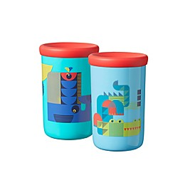 Tommee Tippee® Easiflow 360 2-Pack 8 oz. Plastic Whale/Crocodile Toddler Drinking Cups