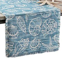 Arlee Home Fashions® Seaside Shells Table Runner in Blue