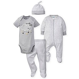 Gerber® 4-Piece Set in Grey/White