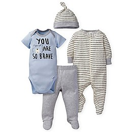 Gerber® 4-Piece Bear Set in Blue/Grey