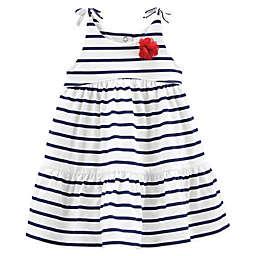 OshKosh B'gosh® Stripe Dress in White/Navy
