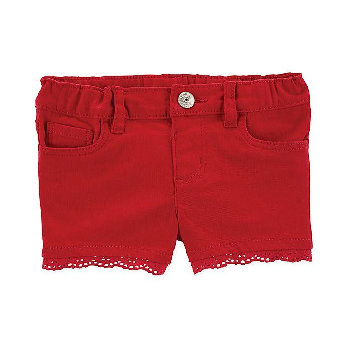 Alternate image 1 for OshKosh B'gosh® Scallop Hem Short in Red