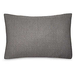 Calvin Klein® Ray King Pillow Sham in Black/Creme