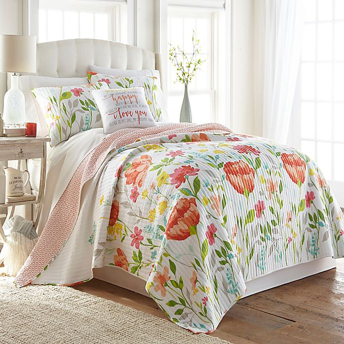 Alternate image 1 for Levtex Home Laurel Reversible Quilt Set
