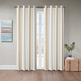 Coastal Life Sandbar Grommet Indoor/Outdoor Window Curtain Panel