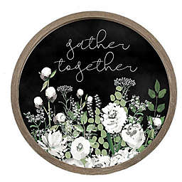 Designs Direct Gather Together Typography 27.56-Inch Round Framed Wall Art