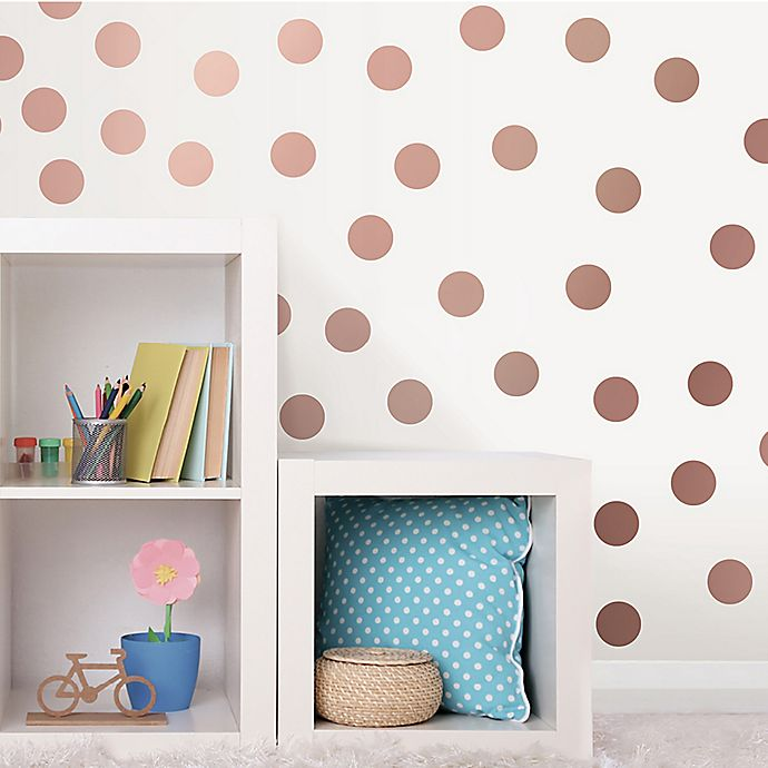 Amazon Com Gold Wall Decal Dots 200 Decals Easy To Peel Easy To Stick Safe On Painted Walls Removable Metallic Vinyl Polka Dot Decor Round Sticker Large Paper Sheet