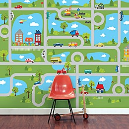 WallPops!® Road Map 118-Inch x 94-Inch Vinyl Wall Decal