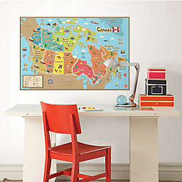 WallPops!® Canada Map Dry-Erase Wall Decal