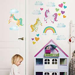 WallPops!™ One Love Unicorns Vinyl Wall Art Decal Kit