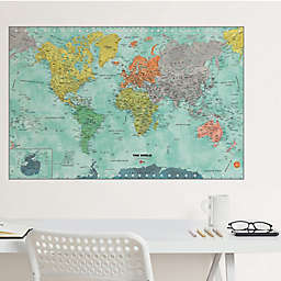 WallPops!™ World Dry Erase Map Vinyl Wall Decal