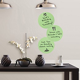 Wallpops!™ Oh Pear Vinyl Dry Erase Wall Decals in Green (Set of 6)