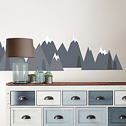 Wallpops!™ Mountain Range Vinyl Wall Decal Set in Grey