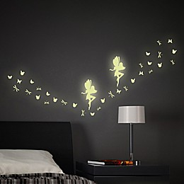 34-Piece Glow-in-the-Dark Fairy Wall Decal Set