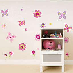 WallPops!® Flowers & Butterflies Peel & Stick Wall Decals