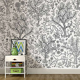 6-Foot x 9-Foot Wilderness Coloring Wall Mural Decal