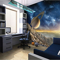 Ohpopsi™ 118-Inch x 94-Inch Galaxy Wall Decal in Blue