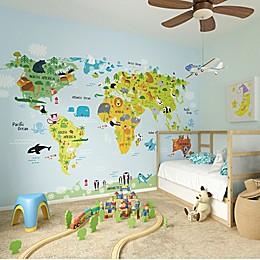 Ohpopsi™ 118-Inch x 94-Inch Whole Wid World Wall Decal