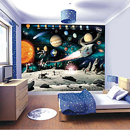10-Foot x 8-Foot Space Adventure Wall Mural Decal