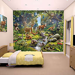 10-Foot x 8-Foot Animals of the Forest Wall Mural Decal