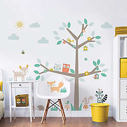 Walltastic 48-Inch Square Woodland Tree and Friends Wall Decal