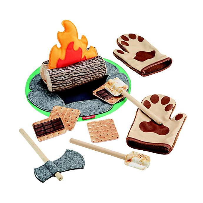 Alternate image 1 for Fisher-Price® 18-Piece S'mores Fun Campfire Set