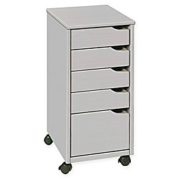 Adeptus 4+1 Drawer Storage Cabinet in Grey