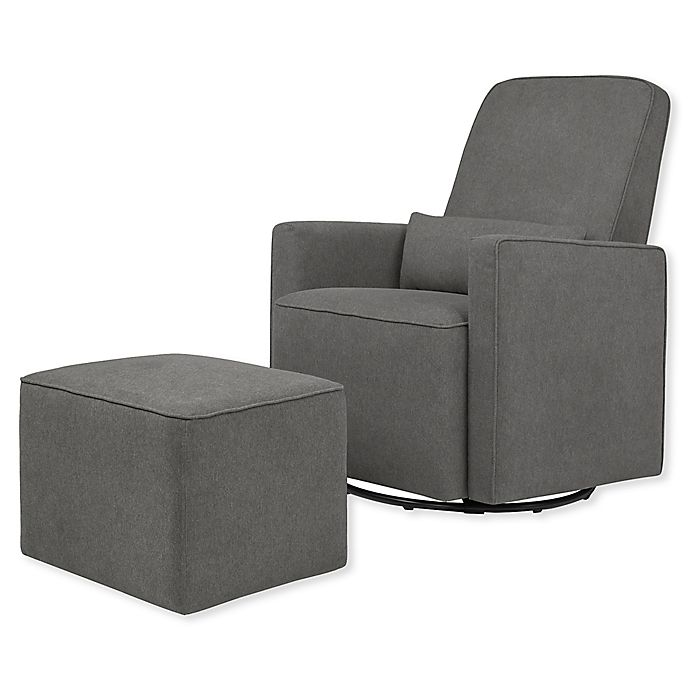Alternate image 1 for DaVinci Olive Glider and Ottoman in Dark Grey