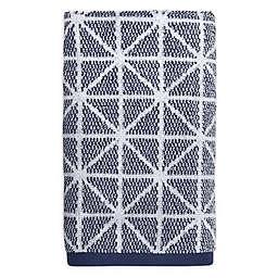 Style Lounge Geo Mingle Hand Towel in Denim